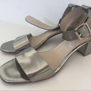 AGL Women Metallic Silver Sandals Heels